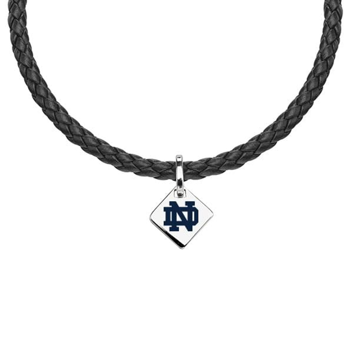 Notre Dame Leather Necklace with Sterling Silver Tag at M