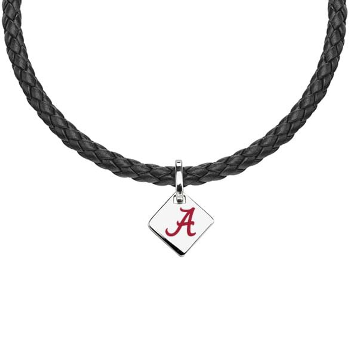 Alabama Leather Necklace with Sterling Silver Tag at M