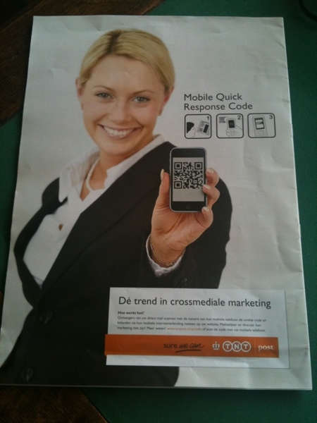 TNT innovates with QR Codes