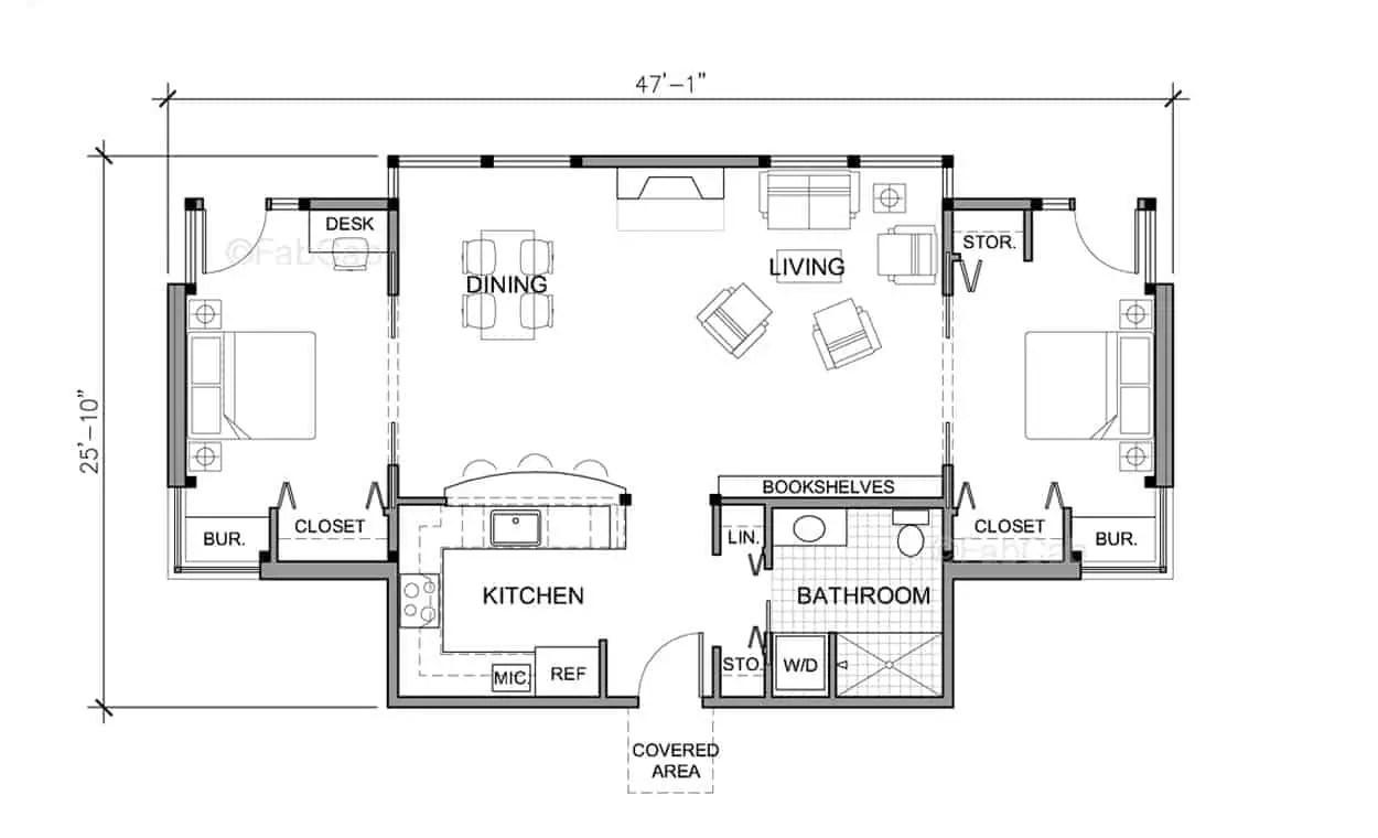 FabCab TimberCab 1029M Prefab Home