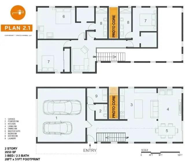 Proto Homes Small 2.1 Prefab Home