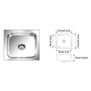 cheap kitchen sink remodeling naples fl sinks buy online at best price in india nirali grace plain satin finish size 485x410 mm