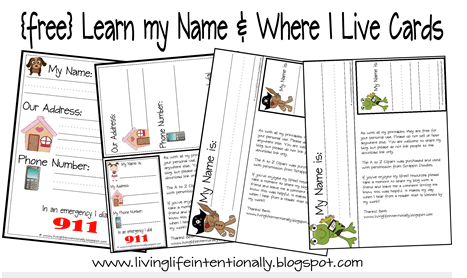 Educational Freebie: Learning To Write My Name & Address