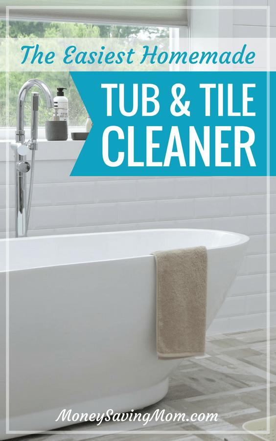 homemade tub tile cleaner