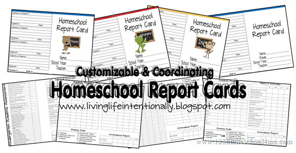 Homeschool Planning Freebies: Report Cards, Forms