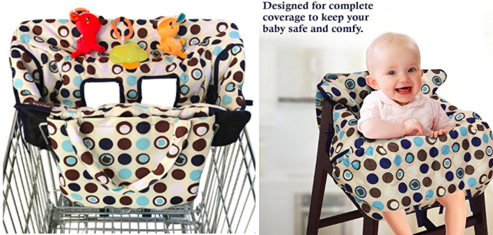 high chair amazon zero gravity lounge kohls com crocnfrog 2 in 1 shopping cart cover