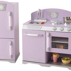 Retro Kids Kitchen Cost Of A Remodel Amazon Com Kidkraft Lavender Refrigerator Just 107 55