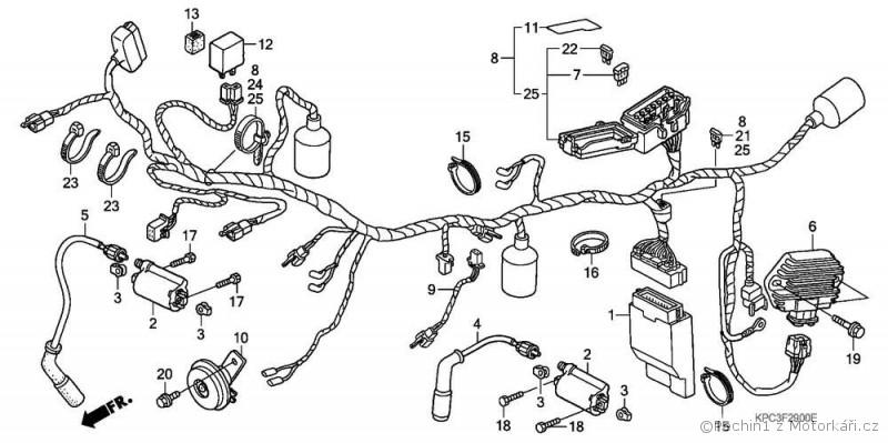 Honda varadero eletrické rozvody :: Motorkářské fórum