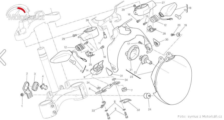 Výměna blinkru Ducati Monster 1200S :: Motorkářské fórum