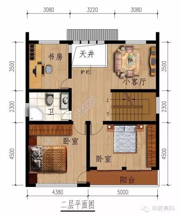 新農村中式民居自建房 10米X11米 坐南朝北