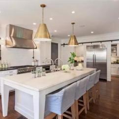Metal Kitchen Table Sets Painted Gray Cabinets 厨房能这么高逼格 全靠这些金属吊灯 金属厨房餐桌