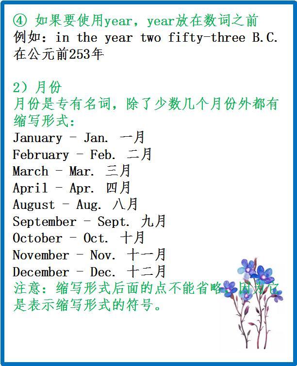 關于年月日的英語表達-年月日英語
