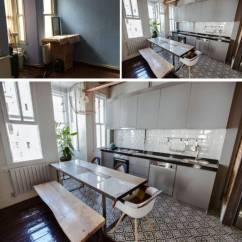 Grey Kitchen Backsplash Ikea Kitchens Reviews 看看这13个古老的厨房在接受化妆后看起来像什么 这个伊斯坦布尔公寓的小而黑暗空的角落变成了一个厨房 通过添加了浅灰色的橱柜 一个白色的后挡板和白色的墙壁让人觉得更加的欢迎