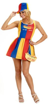Sexy Hot Dog Girl Costume - Mr. Costumes