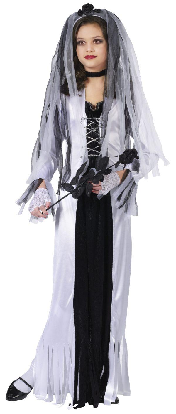 Girls Skeleton Bride Halloween Costume