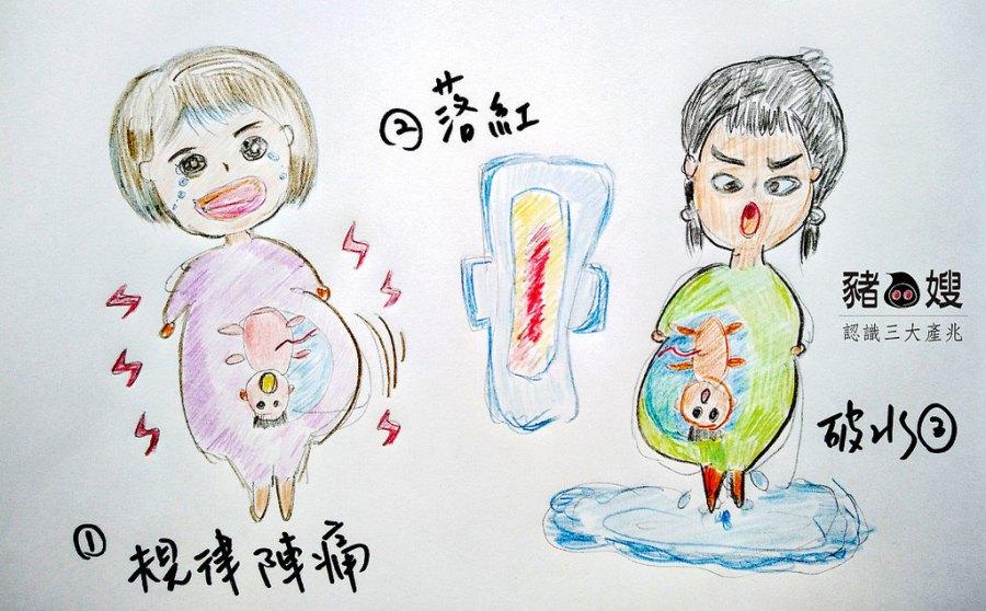 │懷孕│媽媽教室筆記。認識三大產兆免驚嚇。落紅破水陣痛。自然產三部曲怎麼做?