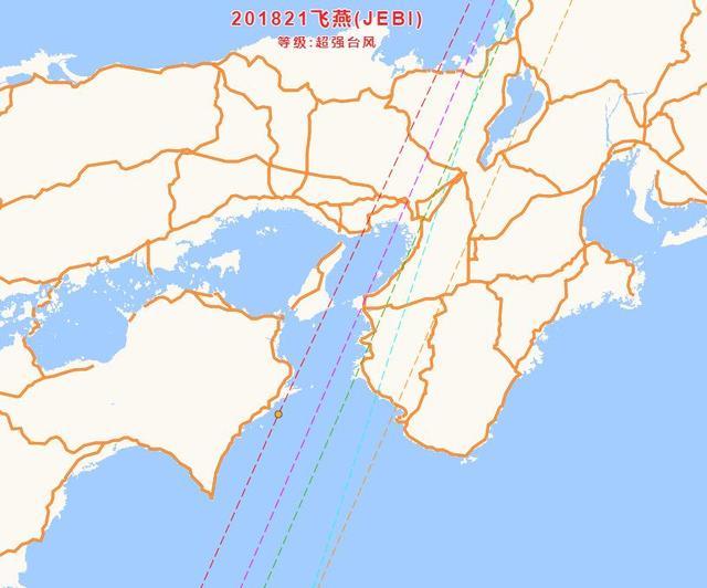 颱風飛燕風眼置換中。美國預報登陸日本前或將迎來第二次巔峰 - M頭條