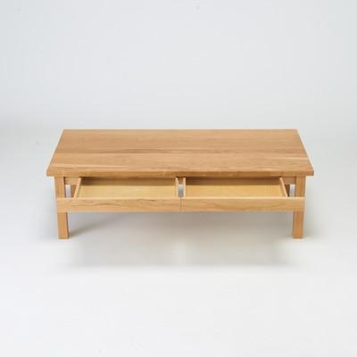 無垢材矮桌/橡木/120×60cm 寬120×深60×高35cm   無印良品