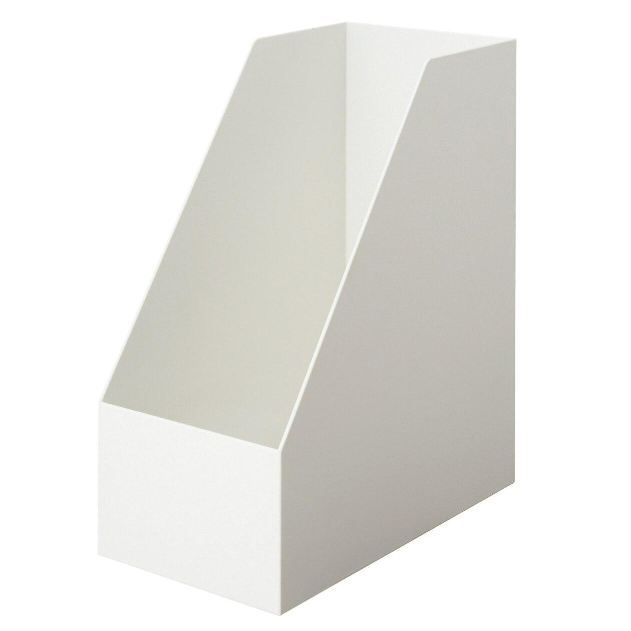 PP立式檔案盒/斜口.寬 白灰約15×27.6×31.8cm | 無印良品