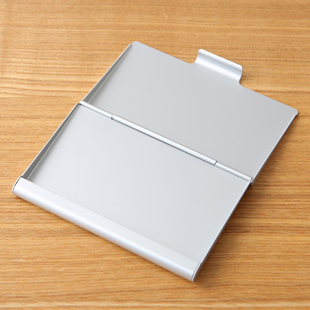 鋁製卡片盒/厚 約60×93mm   無印良品