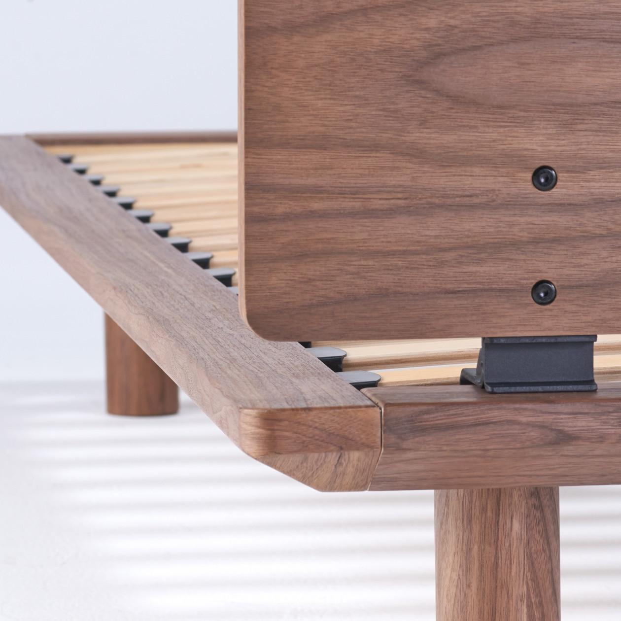 胡桃木床架用床頭板 - 雙人   無印良品 MUJI
