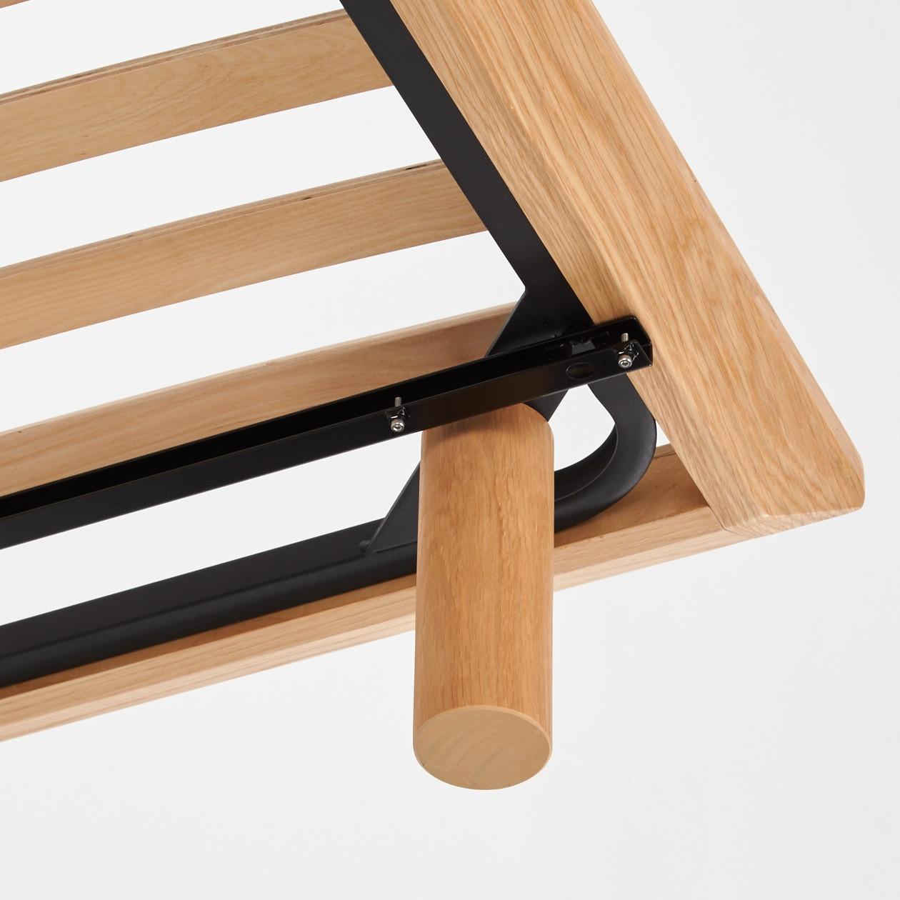 木製單人加大床架用儲物籃路軌   無印良品 MUJI