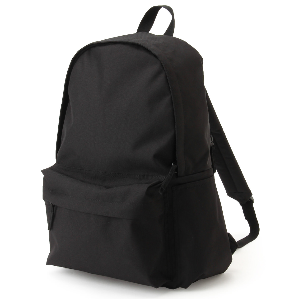 聚酯纖維附側面口袋後背包 黑色 | 無印良品