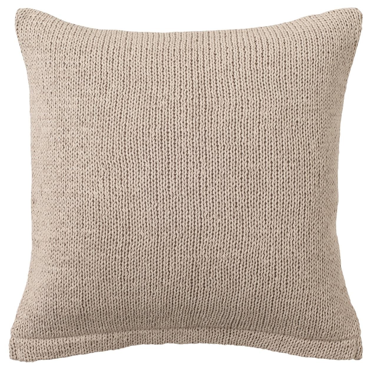 有機棉織帶編抱枕套 米色43×43cm用 | 無印良品