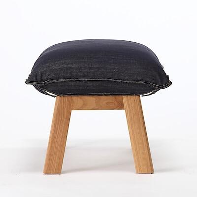 高椅背和室沙發用腳凳用套/棉丹寧/深藍 沙發凳用 | 無印良品