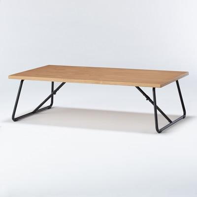 可摺疊矮桌/橡木/120cm 寬120×深70×高35cm   無印良品