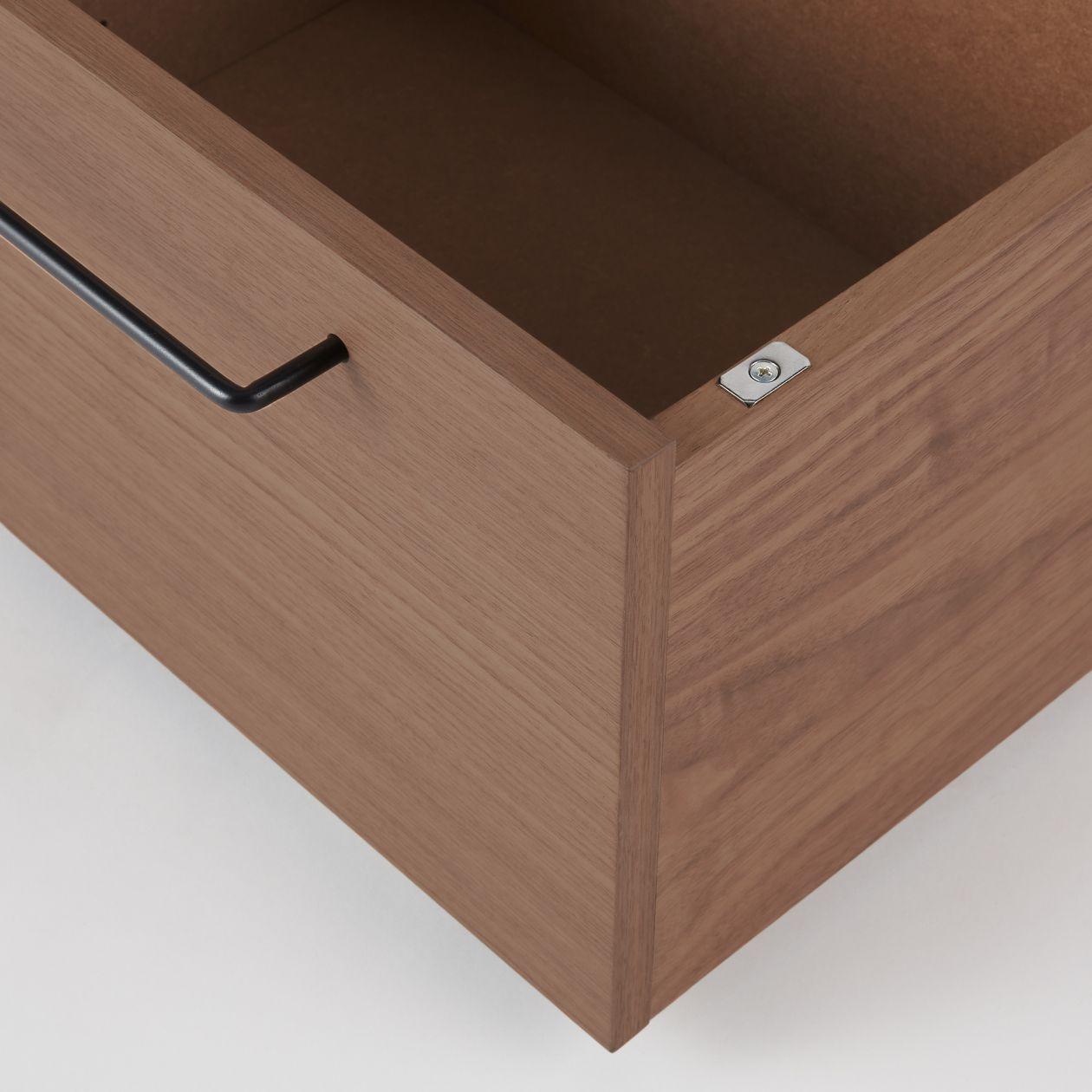 胡桃木床架用儲物地櫃 - 小   無印良品 MUJI