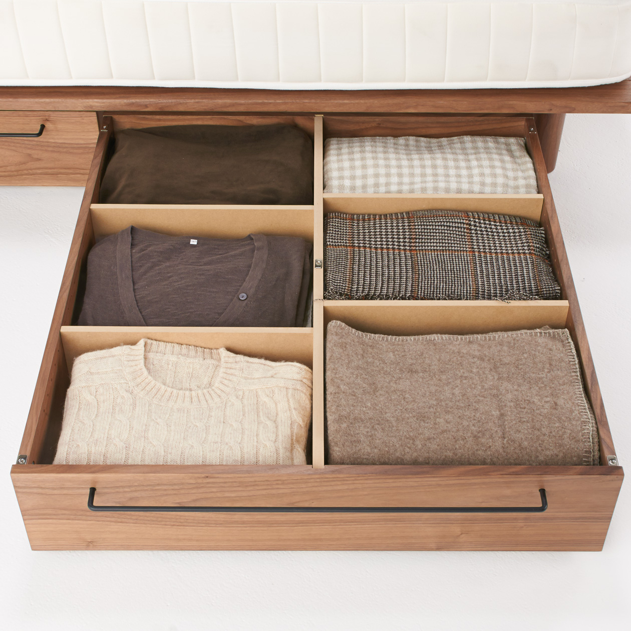 胡桃木床架用儲物地櫃 - 大   無印良品 MUJI