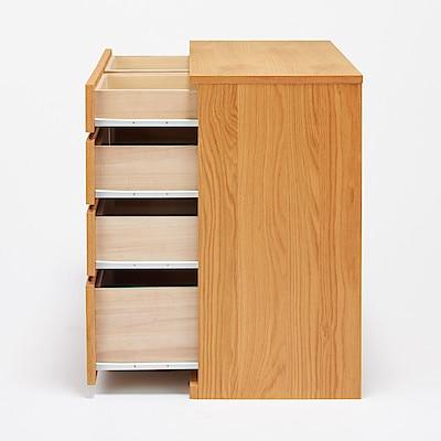 橡木四層櫃 寬88x深44x高83cm | 無印良品