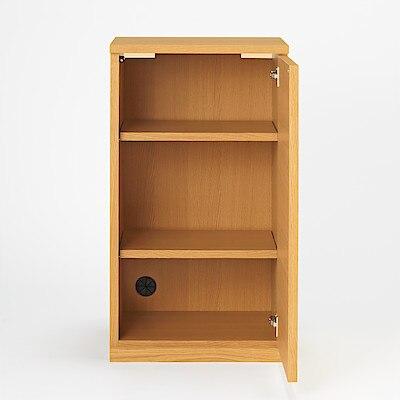 橡木收納櫃/木門/窄 寬44x深44x高83cm | 無印良品