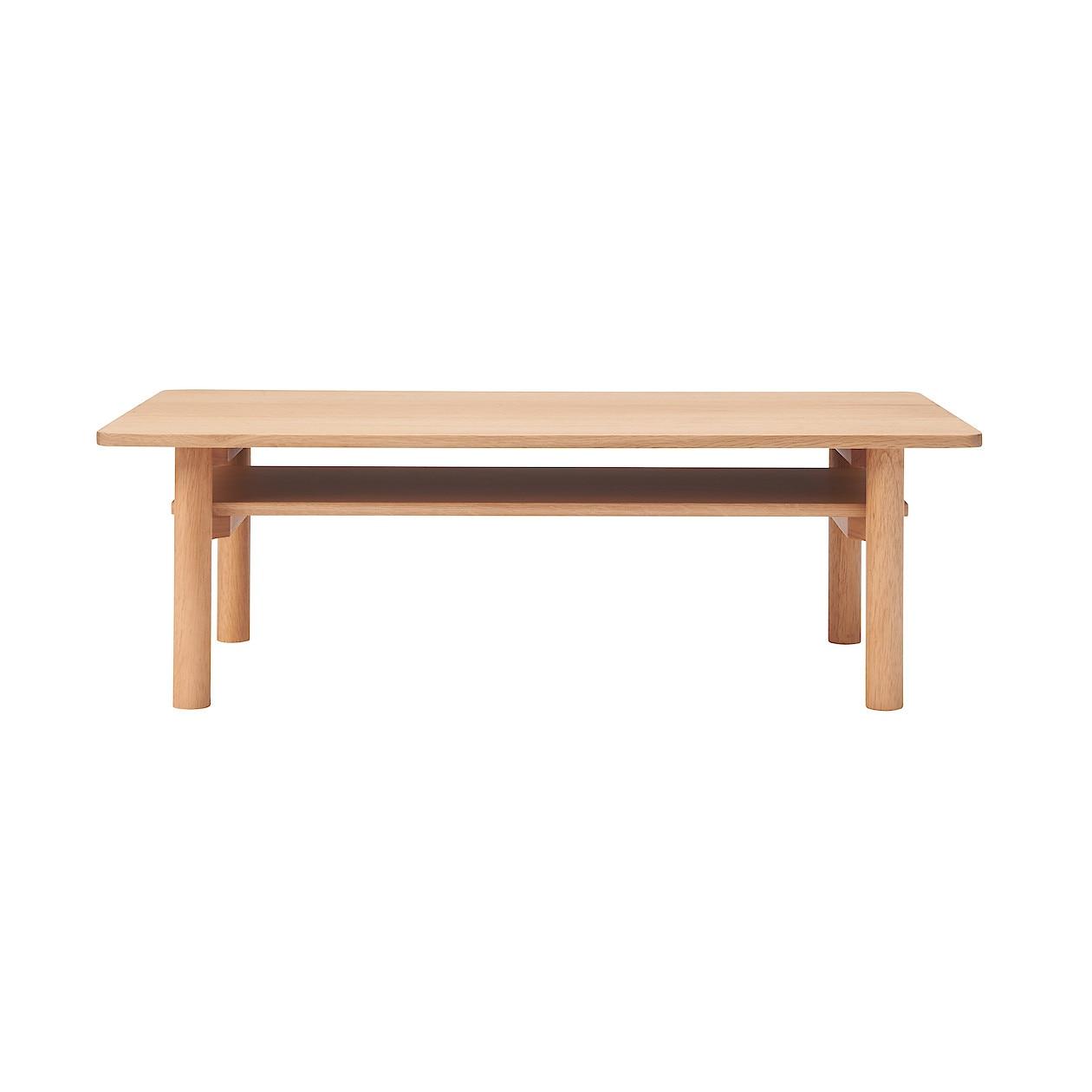 木製矮桌/橡木/高35cm 寬110x深55x高35cm   無印良品