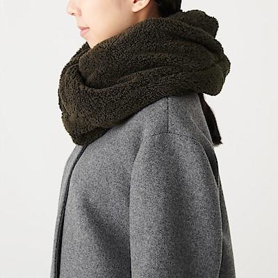 絨毛刷毛保暖領圍 深摩卡棕   無印良品