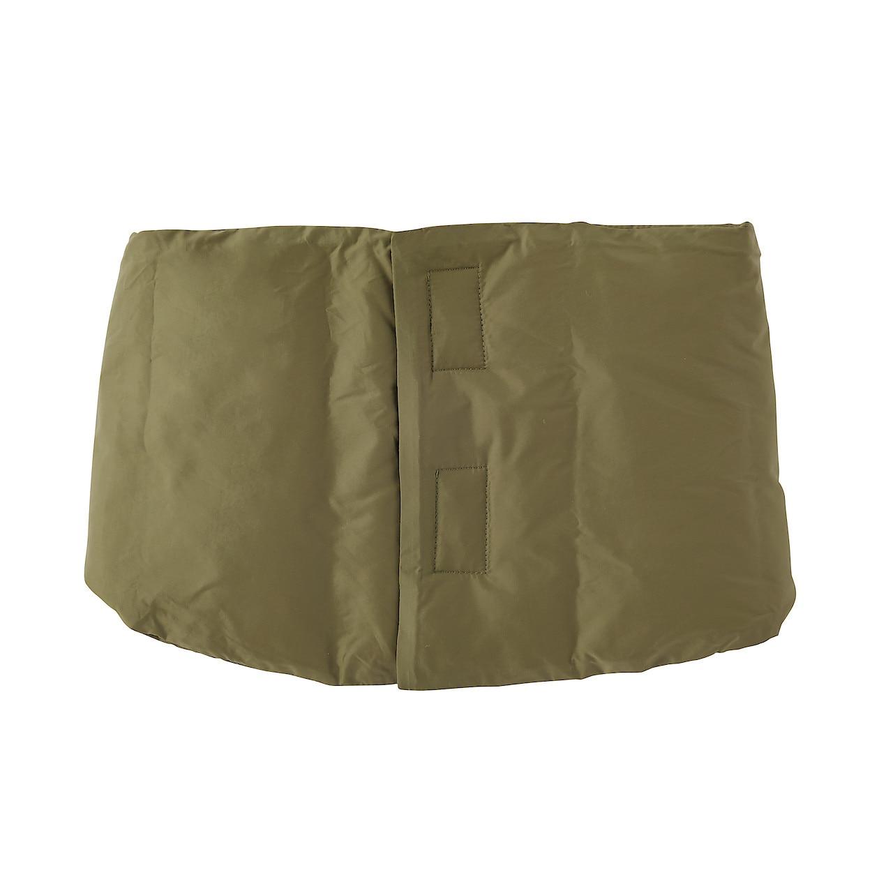 輕量澳洲羽絨可攜式保暖領圍 卡其綠14×68cm   無印良品