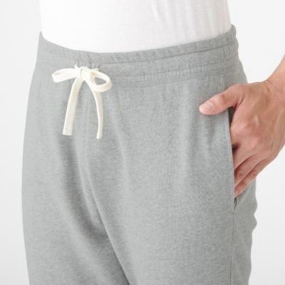 男棉混裏毛長褲 灰色M | 無印良品