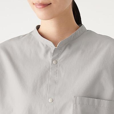 女新疆棉細牛津布立領襯衫 灰色XS~S   無印良品