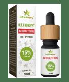HEMP KING Olej Konopny Natural Strong 15% 10 ml
