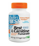 DOCTOR'S BEST Best L-Carnitine Fumarate 855mg 60 kaps.
