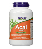 NOW FOODS Acai 500mg 100 kaps.