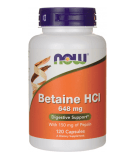 NOW FOODS Betaine HCl 648mg 120 kaps.