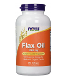 NOW FOODS Flax Oil 1000mg 250 kaps.