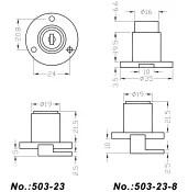 Furniture Lock-Zice Alloy Flap Lock 503-23