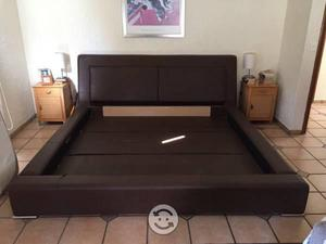 Cama king size con base y cabecera  Posot Class