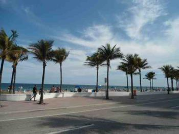 A quiet morning on the Fort Lauderdale Beach in January