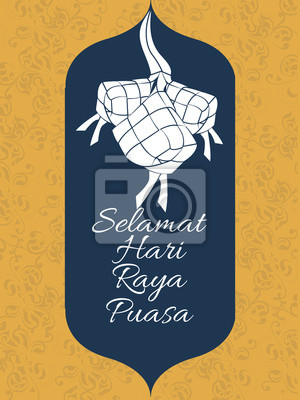 Tulisan Selamat Hari Raya : tulisan, selamat, Beautiful, Abstract, Poster, Selamat, Posters, Religion,, Star,, Malay, Myloview.com