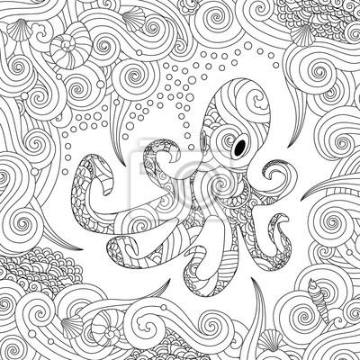 Malvorlage Oktopus