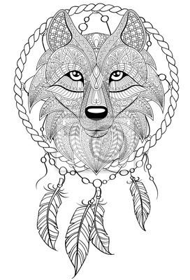 Wolf mond malvorlage Coloring and Malvorlagan